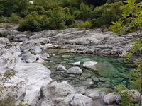 Blue river Albanian blue waters